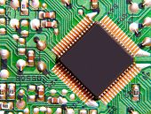 pic of microchips  - The photo of electronic microchip taken closeup - JPG