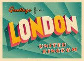 Vintage Touristic Greeting Card - London, United Kingdom - Vector EPS10. Grunge effects can be easil