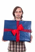 Man With Big Gift Box