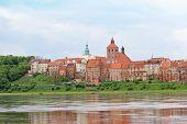 Granaries of Grudziadz above Wisla river in Poland