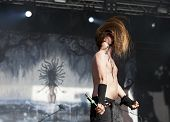 Finntroll performs live on stage at Tuska Festival