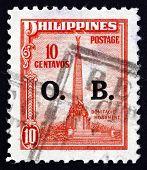 Postage Stamp Philippines 1948 Bonifacio Monument