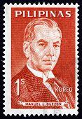 Postage Stamp Philippines 1963 Manuel L. Quezon, Portrait