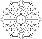 Outlines Of Floral Stained Glass