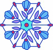 Multicolored Floral Stained Glass