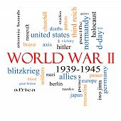 World War Ii Word Cloud Concept