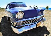 Alte Oldtimer blau Farbe