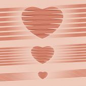 Heart origami pink Background vector illustration
