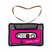 Cassette Tape - Hand Drawn