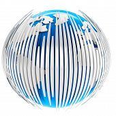 3D Earth Globe With Bars
