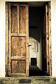 picture of hacienda  - Door of an old spanish hacienda building - JPG