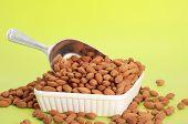Scoop Of Fresh Almonds