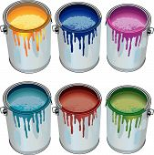 Tins With Paint