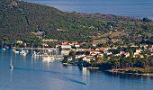 Island of Ilovik nautical harbor