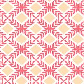 Peach orange argyle retro seamless pattern background