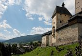Mauterndorf Medieval Castle In Austria poster