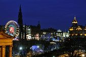 Winter Entertainments In East Princes Street Gardens, Edinburgh, Scotland