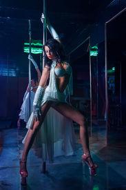 stock photo of strip tease  - Striptease in night club  - JPG