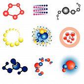 Set Of Science Design Elements - Molecule
