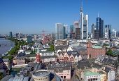 stock photo of frankfurt am main  - Aerial view of Frankfurt am Main in Germany - JPG