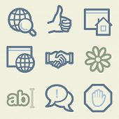 Internet web icons, money color set