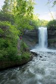 Minnehaha Falls In The Evening