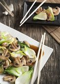 Stir Fried Bok Choy With Mushrooms