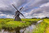 Dutch Wooden Windmill