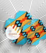 Vector hipster geometric shape background