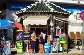 Newspaper and snack kiosk, Nerja, Spain.
