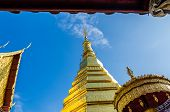 Golden Pagoda At Wat Phra That Cho Hae