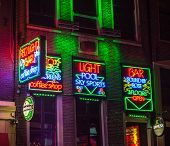 Red Light Bar In Amsterdam