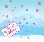 W inter mountains Valentine