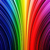 Abstract warped rainbow stripes background