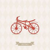Retro Illustration Bicycle.