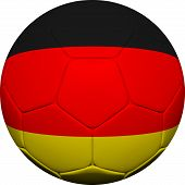 German Flag With Soccer Ball