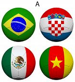 Soccer Championship 2014 Group A Flags