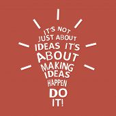 light Bulb With A Quote