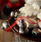 Gingerbread Christmas tree and christmas decoration