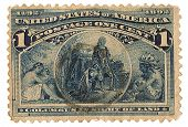 United States Stamp Columbus Sight of Land