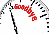 stock photo of say goodbye  - Goodbye image with hi - JPG