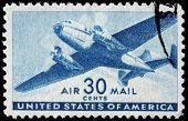 uns airmail stamp