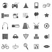 Toy Icons On White Background