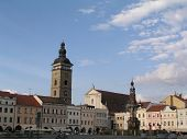 stock photo of samson  - A view of the main square from Ceske Budejovice - JPG