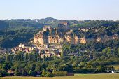 Castle Of Beynac overlooking Dordogne River in France
