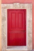 Red Coffered Door