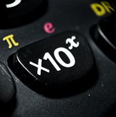 Macro Of Calculator Buttons, Mathematical Concept