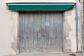Old Double Garage Door