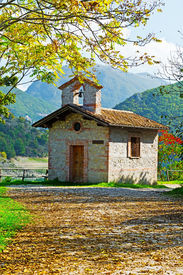 picture of apennines  - The Small Church High Up in the Apennine Mountains Italy - JPG