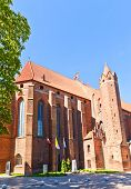 Saint John The Evangelist Cathedral (1384) In Kwidzyn Town, Poland